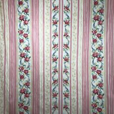 VTG Bloomcraft Laurette Upholstery Drapery Fabric 2.5 Yd Pink Floral Rose Chintz