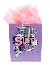Birthday Gift Bag Kids Girls Large Pink Party Tissue Paper Pack Set Wrap Cute