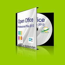2013 Open Office Suite Professional Plus 32bit 64bit Microsoft Windows 10 8 7 XP