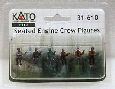Kato HO 31610 Seated Engine Crew Figures (6). New.