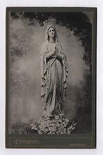 PHOTO ANCIENNE CABINET Notre Dame de Lourdes Montreux F. Vachoux Vers 1910