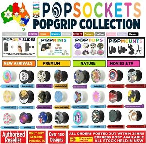 Authentic PopSockets Grip Pop Socket Top Phone Universal Stand Holder Car Mount