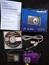 Olympus FE-4030 14.0MP Digital Camera - Indium Gray - Excellent Condition