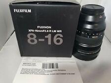 New listing Fujifilm Fujinon Xf 8-16mm f/2.8 R Lm Wr Lens