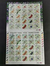 2000 malaysia dragonflies & damselflies pair perf & imperf stamp sheets mnh