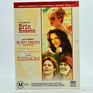 Julia Roberts Collection 3-DVD Erin Bronkovich My Best Friends Wedding Stepmom
