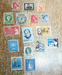 Australian Stamps Loose Mixed Sets 1950's to 1970s BUNDLE Used Condition VINTAGE