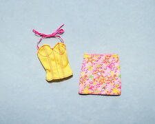 SUPER STAR! Pink & Yellow Green Star Print Genuine BARBIE Mini Skirt Outfit