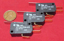 3 pcs - Honeywell V7-1S17D8 Micro Switch Momentary .1A 125VAC Hinge Lever SPDT R