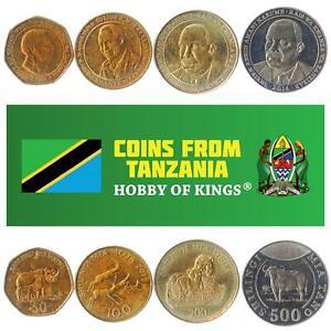 SET OF 4 COINS FROM TANZANIA: 50, 100, 200, 500 SHILLINGI. 1993-2015