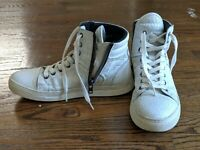 Kenneth Cole High Top White Sneaker for Men Sz 7.5