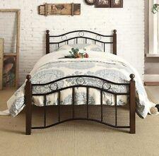 Twin Bed Frame Platform With Headboard Footboard Kids Child Room Stylish Modern