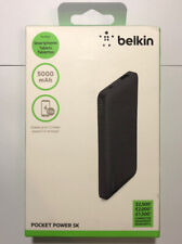 New Belkin 5000mAh Portable Ultra Thin Battery Charger - Black