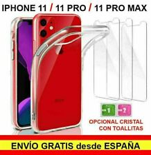 Funda silicona gel TPU Iphone 11 - Iphone 11 Pro - Iphone 11 Pro Max y cristal