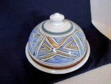 Large Pottery  Dome Lid Covered Plate for  Cheese, Butter, Etc.