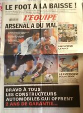 L'Equipe Journal 19/2/2003;  Arsenal-Ajax 1-1/ Barcelogne-Inter de Milan 3-0