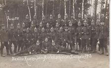 Original 1913 RPPC Real Photo Postcard GERMANS SPIKED HELMETS Gew98 RIFLES 62