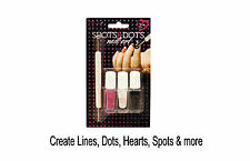 Create Yr Own Nail Art Designs Spots Dots, Lines, Hearts & More 4pc Complete Kit