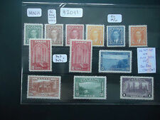 Canada 1937-1938 George VI (11v Set) (SG 357-367) CAT £185 MNH Except 50c M/H