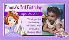 12 PRINCESS SOFIA THE FIRST BIRTHDAY PARTY FAVORS PHOTO MAGNETS