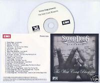 SNOOP DOGG The West Coast Blueprint 2010 UK 21-trk promo test CD