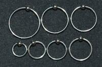 Wholesale Lot (100) 16G 316L Surgical Stainless Steel Captive Bead Rings
