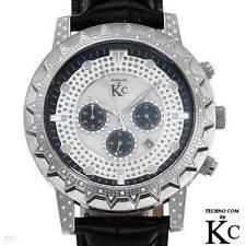 TECHNO COM by KC Men's Genuine Diamond Chronograph Watch w/Day - .35 cwt