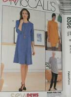 8396 McCalls SEWING Pattern Misses Easy EZ Dress Pants UNCUT Sew News Career OOP