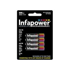 Infapower B009 1000 Times Rechargeable AAA Ni-MH Batteries 550mAh - 4 Pack New