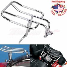 Rear Luggage Fender Rack Holder License Plate bracket For Harley FLSTC 2006-2010