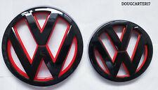 VW GOLF MK7/MK VII RED AND BLACK BADGE/EMBLEM/LOGO FOR BONNET AND BOOT OEM