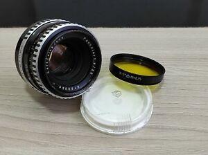 Zebra Carl Zeiss Jena Pancolar 50mm f/1.8 Germany lens  M42 mount