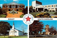 Easley South Carolina Crafted With Pride In Usa~Multi Image Postcard