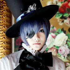 Fashion Black Butler Ciel Phantomhive Blue Gray Short Anime Costume Cosplay Wig