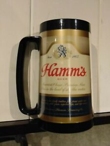 Vintage Hamm's Brewing Beer Thermo Serv Plastic Mug Stein Advertising