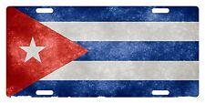 CUBA Flag Custom License Plate Cubano Emblem Fuzzy Version
