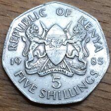 PIECE DE 5 SCHILLING 1985 DU KENYA (385)