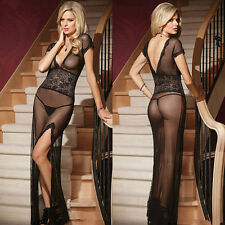 Sexy Black Women Underwear G-String Nightwear Lingerie Dress Babydoll Sleepwear