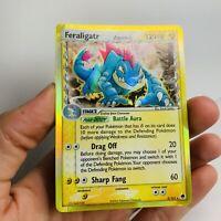 Feraligatr Delta Species - 2/101 - Holo Rare Dragon Frontiers Pokemon card GOLD