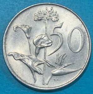 1977 South Africa 50 Cents High Grade