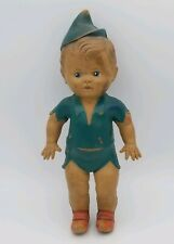 """Vintage Sun Rubber Co Squeaky Doll, """"Peter Pan"""" , Signed"""