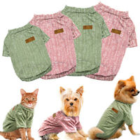 Small Dog Cotton T-shirt Pet Puppy Soft Costumes Vest Apparel Chihuahua Clothes