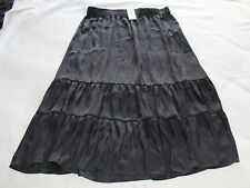 Target Casual Collection Ladies Black Tiered Midi Skirt Size 14