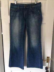 Ladies Blue GSTAR RAW Wide Leg Jeans W28 L30