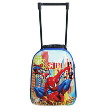 Spider-Man Travel Suitcase Kid Child Toddler Backpack Luggage Trolley School Bag