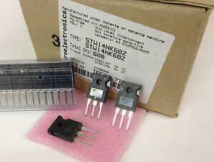 5 pieces STW14NK60Z  MOSFET is  IRFP450 with 600V + zener protected NEW ~