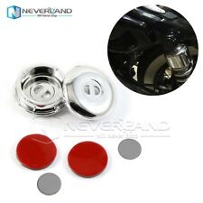 2pcs Shock Bolt Cover Kit For Harley 2004-2016 Dyna Sportster Chrome