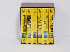 National Geographic VHS Tape Box Set Most Factory Sealed Pearl Harbor Vietnam