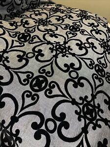 black velvet and grey shower curtain Black Velvet Design Used For Staging Nice