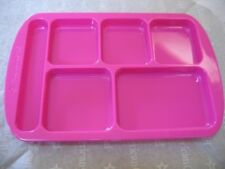 """American Girl 18"""" Doll PINK TRAY Compartments 4 X 6"""" from HOT LUNCH Set NEW"""